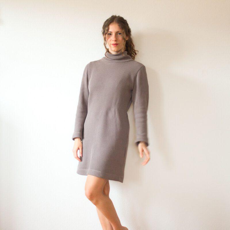 schnittmuster rollkragen kleid