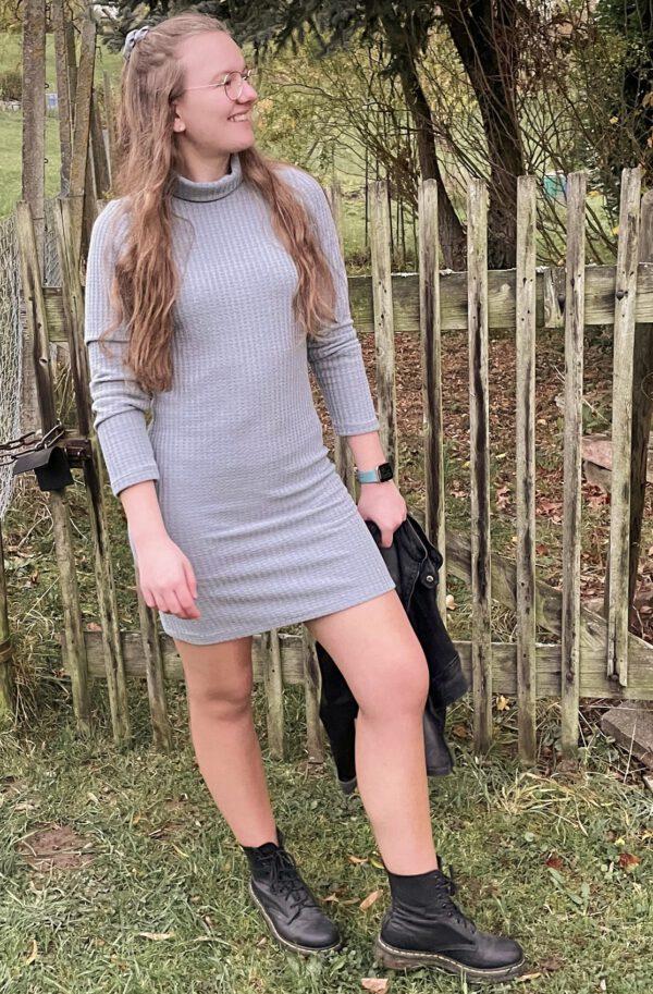 Schnittmuster Winterkleid Damen