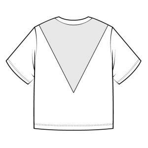 Technische Zeichnung Crop Top Léon